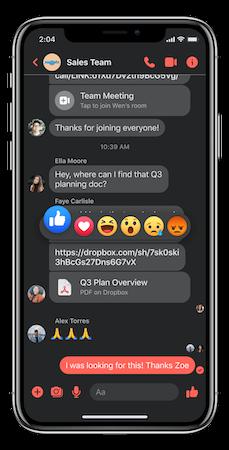 iOS app chat