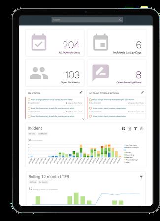 Donesafe iPad interface screenshot