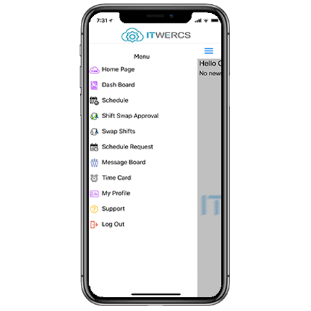 ITWERCS POS iphone scheduling