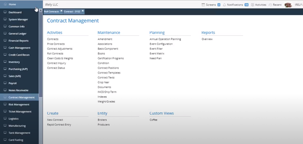 iRely i21 contract management