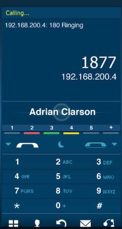 iSoftPhone dialer screenshot