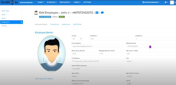 iStaffRota employee profiles