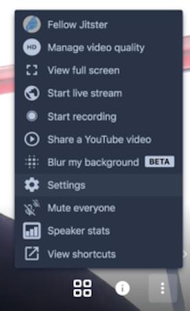 Jitsi Meet presenter settings