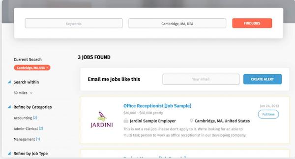 SmartJobBoard search jobs screenshot