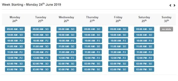 Kennelbooker calendar