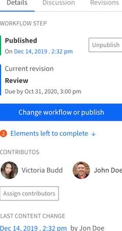 Kentico Kontent workflows