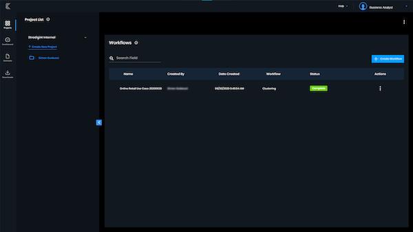 Kepler projects menu