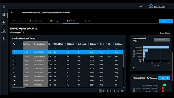 Kepler evaluation dashboard