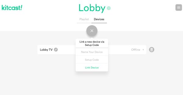 kitcast! device options