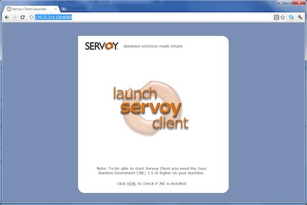 Servoy launch client