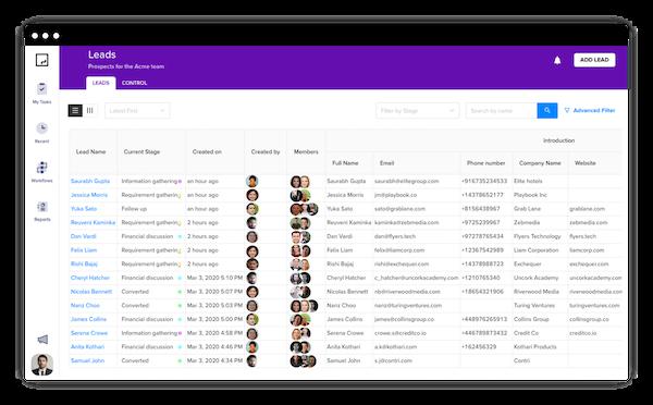 GoodFlow lead management process builder