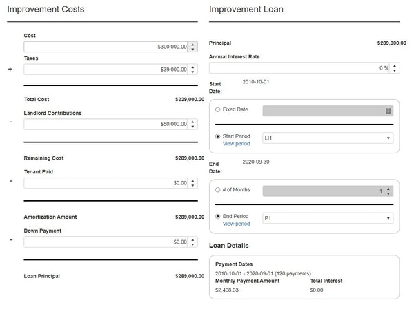 Lease cost workflow