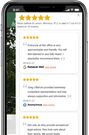 Rize Reviews mobile device interface screenshot