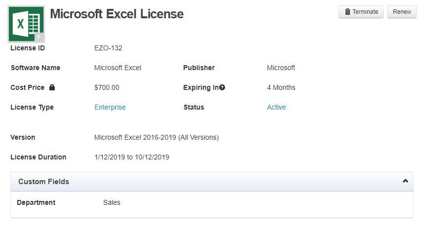 License details