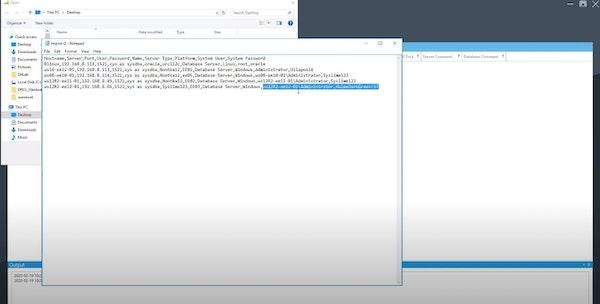 Lime2 import database details