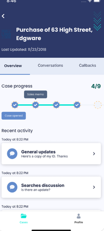 The Link App track case progress