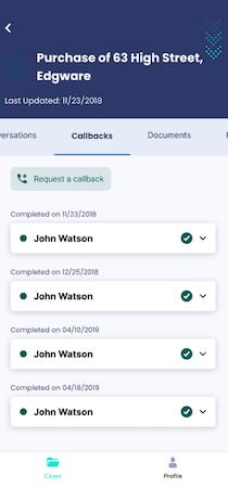 The Link App client callbacks