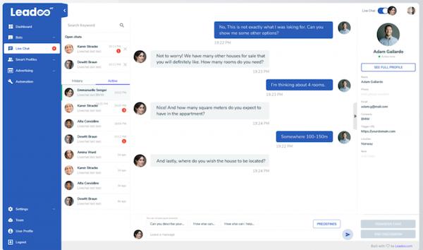 Leadoo live chat