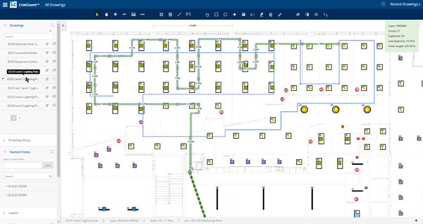 Trimble AccuBid Enterprise - LiveCount Screensnap