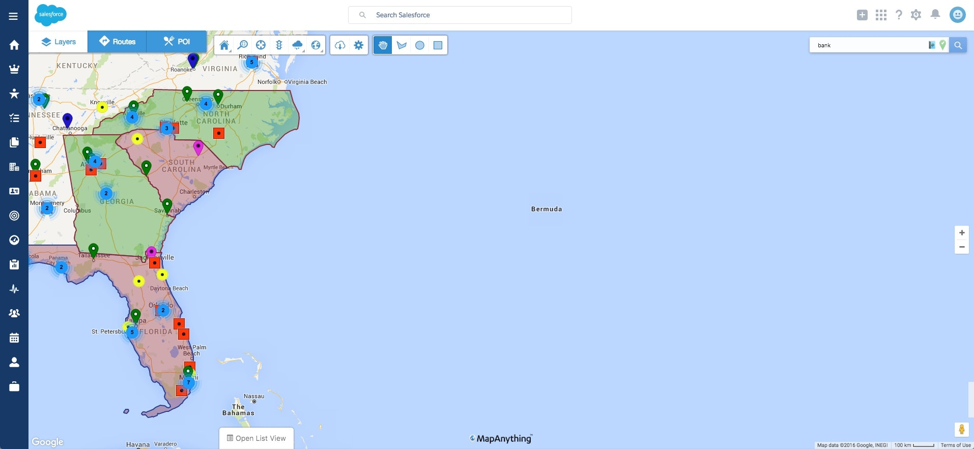 Location based prospecting