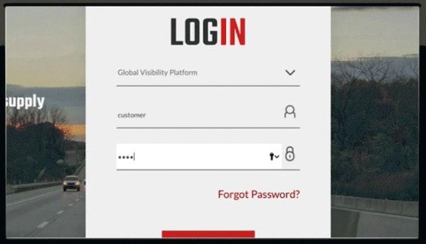 Global Visibility Platform login screen