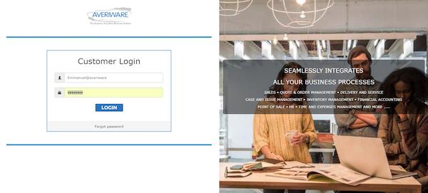 Averiware Online Portal