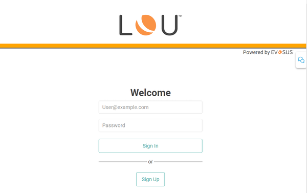 LOU log in page