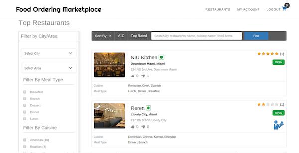 Food Ordering online ordering