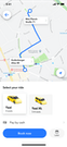 M-TRIBES Taxi Software customer app