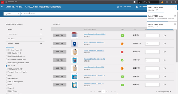 CloudSuite Distribution Enterprise – Sales Hub