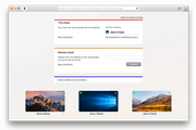MacOS main screen
