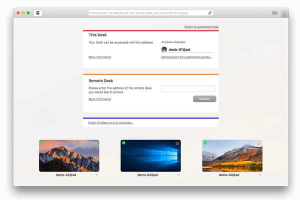 MacOS main screen