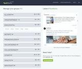 TextMarks manage groups screenshot