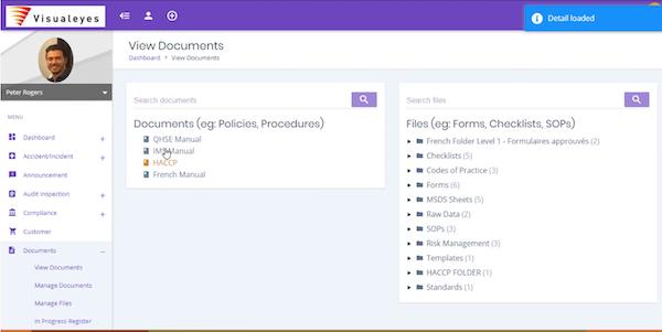 Mango QHSE document management screenshot
