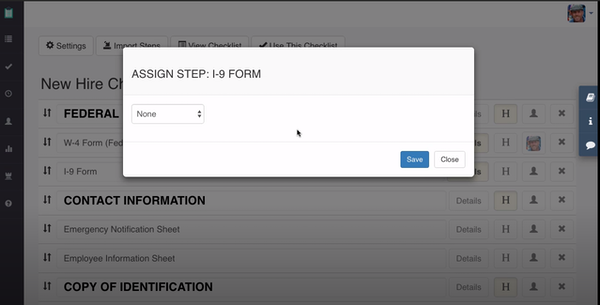 Manifestly assign workflow steps