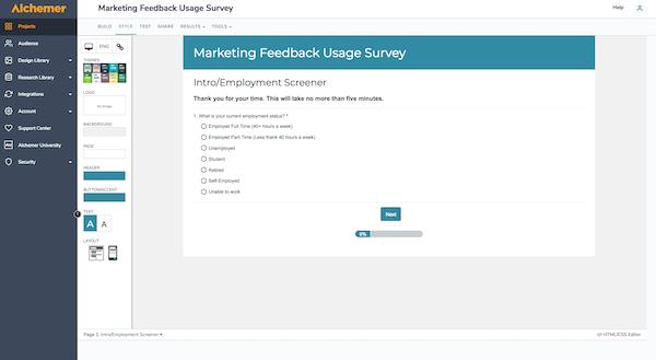 Marketing Survey