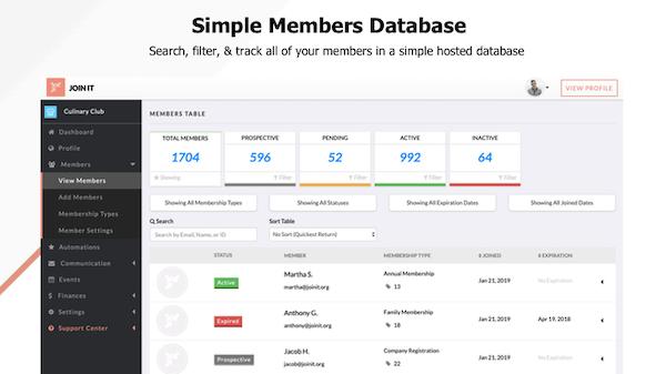 Join It Membership Database