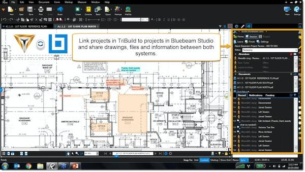 TriBuild Construction Management media sharing screenshot.