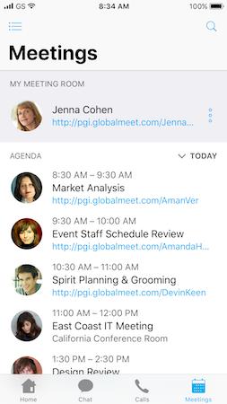 GlobalMeet Collaboration meetings