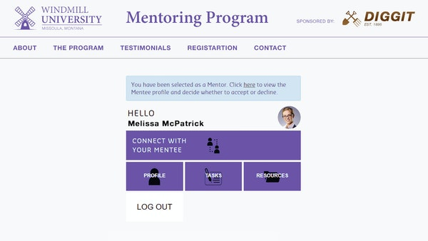 MentorEase mentor-mentee connection screenshot