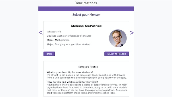 MentorEase mentor profile screenshot