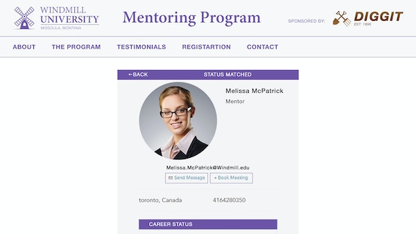 MentorEase mentor matching screenshot
