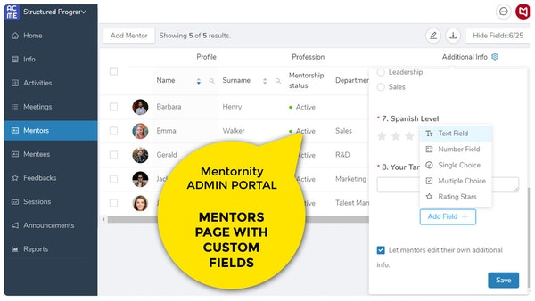 Mentornity Mentors Page