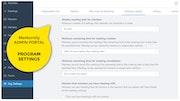 Mentornity Meetings Settings