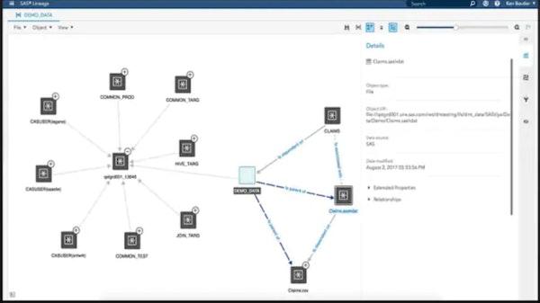 SAS Data Management metadata management