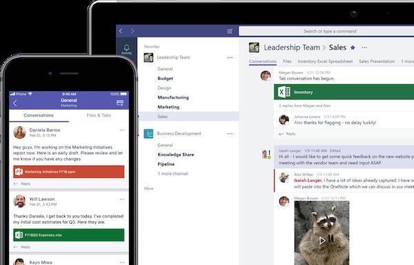 Microsoft Teams conversation