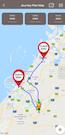 Mile journey plan map
