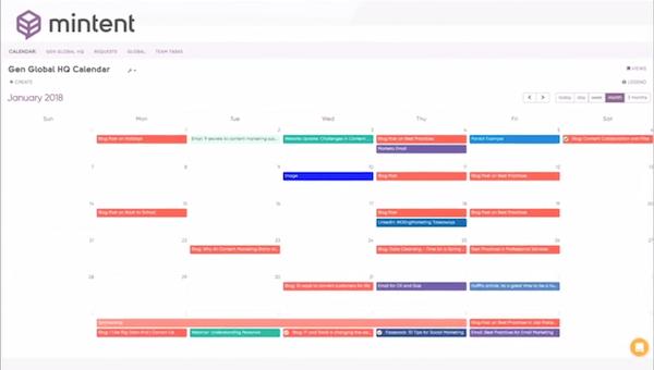 Mintent calendar
