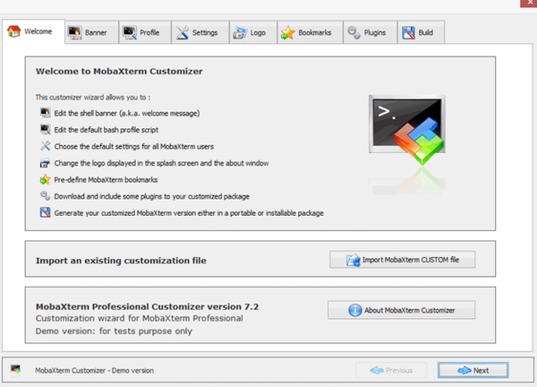MobaXterm customizer
