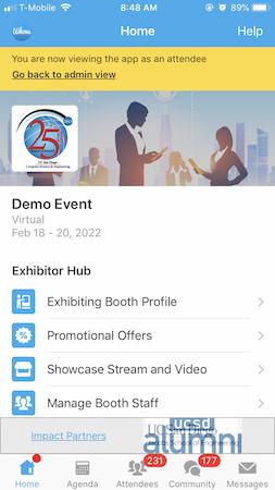 Whova exhibitor hub
